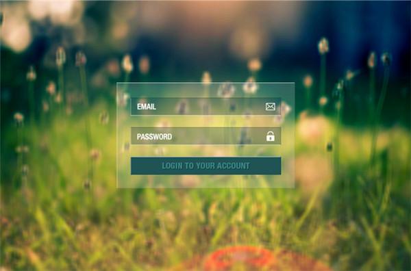带背景图片的透明网站登录框ui界面设计