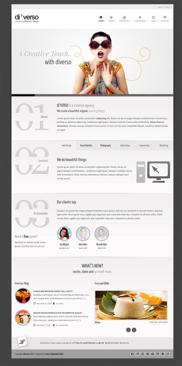 新闻列表 > 网站内页设计欣赏